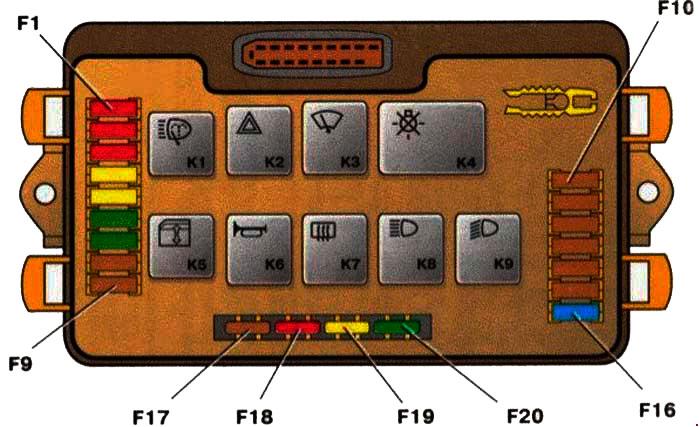 Блок предохранителей 2114-3722010-10, 2114-3722010-18