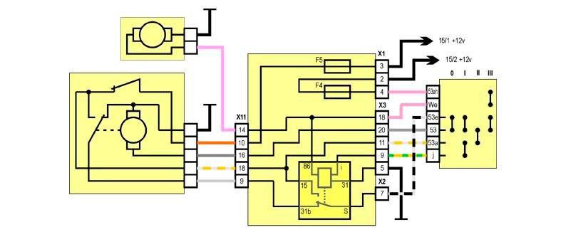 Схема дворников ваз 2109