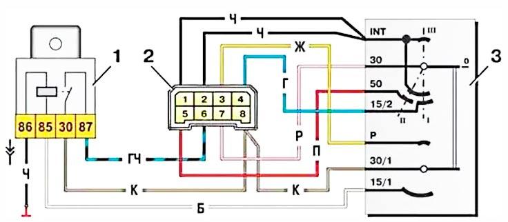 Схема подключения замка зажигания на ваз 2109