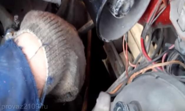 Процесс замены крана печки на ваз 2109
